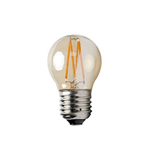 Tree-es-Life 4W G45 E27 Bombilla LED de luz LED Retro Cubierta de ámbar Transparente Filamento de LED Lámpara de Vidrio Vintage Antigua Luz sintonizable Ámbar