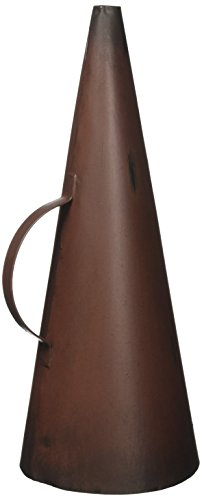Design Toscano Hollywood Movie Director's Megaphone Home Theater Decor Statue, 9 Inch, Metalware, Rust
