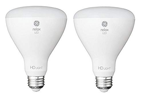 GE Relax 2-Pack 65 W Equivalent Dimmable Soft White Br30 LED Light Fixture Light Bulb