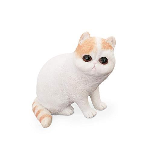 彫刻 ガーフィールドシミュレーション猫モデルかわいいペットの装飾