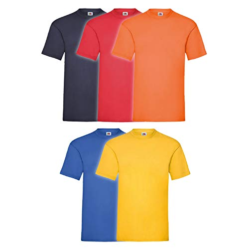 Fruit of the Loom 5X 61-036-0 - Camiseta, Hombre, Colour Set I, L