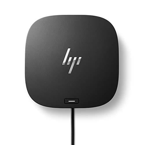 HP - PC USB-C Dock G5, estación de Acoplamiento multifunción con conexión USB-C, 4 USB 3.0, 2 DisplayPort, 1 HDMI 2.0, 1 RJ-45, 1 Headphone/micrófono Combo, Negro