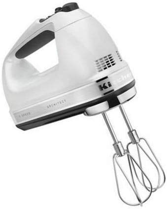 discount KitchenAid (CERTIFIED 2021 REFURBISHED) RKHM9FP 9-Speed Most Powerful Digital Display Power Hand Mixer outlet sale Frosted Pearl (RENEWED) outlet sale