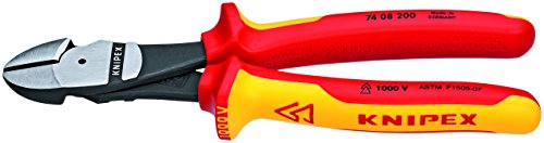Knipex 989825US 7-Piece 1000V Insulated Pliers, Cutters, and Screwdriver Commercial Tool Set