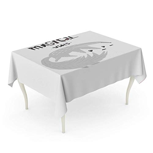 Rectángulo Mantel Animal Lindo Oso Hormiguero Frase Vibraciones mágicas Cortadas de Real para guardería Habitación de niños Artístico Baby Table Cloth