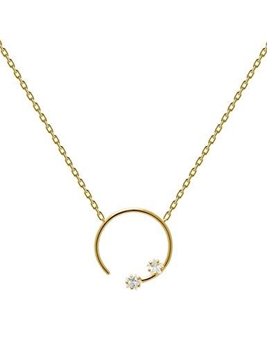 P D PAOLA - Collar VELA Gold - Plata de Ley 925 bañada en Oro de 18k - Joyas para Mujer