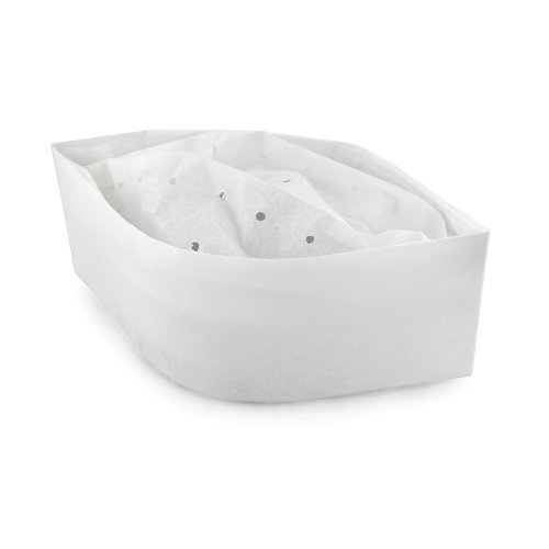 New Star Foodservice 32192 Disposable Non Woven Flat Chef Hat, 3.5-Inch, White, Set of 100
