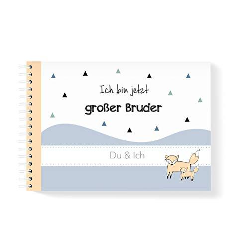 mintkind Geschwisterbuch Großer Bruder I Momente und Erinnerungen festhalten I Fotoalbum Geschenkidee DIY