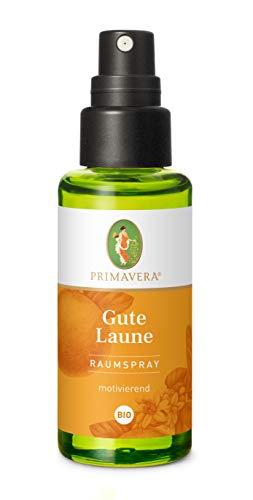PRIMAVERA Raumspray Gute Laune bio 50 ml - Orange, Limette, und Zitrone - Aromadiffuser, Aromatherapie - motivierend - vegan