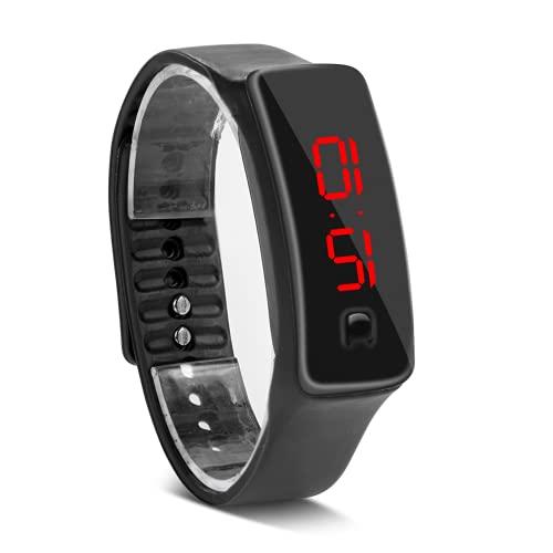 Eosnow Reloj Digital, Reloj De Pulsera Deportivo Duradero para IR Al Trabajo(Negro)
