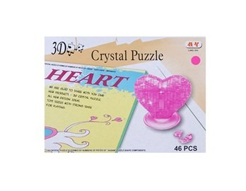 No.9002 3D Crystal Jigsaw Heart Puzzle (Pink) + Worldwide free shiping
