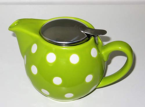 Cha Cult Kanne Saara Punkte Lime-grün, Keramik 0,5 l