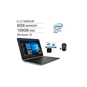 """HP ProBook x360 11 G3 Series 11.6"""" 2-in-1 Touch-Screen LED-backlit Laptop, Intel Pentium N5000 Upto 2.7GHz, 8GB DDR4, 128GB SSD, Bluetooth, Webcam, Backlit Keyboard, HDMI, Windows 10, Bundle and Mouse"""
