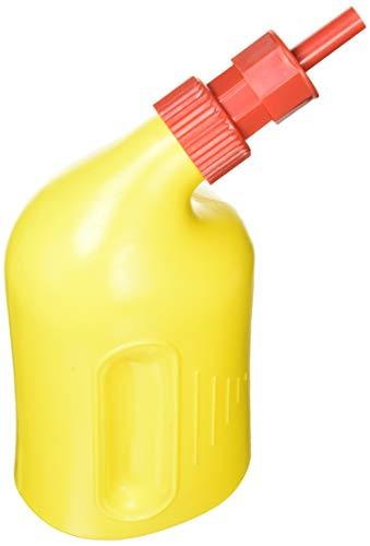 HERTH+BUSS Batteriefüller - Prinzip II. 1 l Flasche, gelb, Füllrohr 11,5 mm ø. die Ventilbetätigung befindet sich als Bund am oberen Ende des Füllrohrs und wird durch Aufsetzen auf die Batteriezellenöffnung betätigt