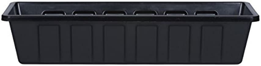 Novelty Poly-Pro Plastic Flower Box Planter, Black, 24-Inch