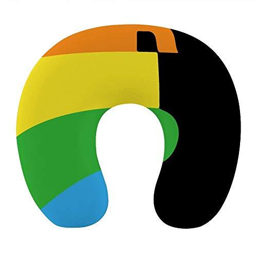 Traspirante Confortevole LGBT Gay Pride Arcobaleno Bisessuale Collo Cuscino Morbido Memory Foam Cuscino da viaggio a forma di U per aeroplano Home Office Auto