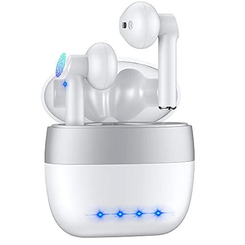 Bluetooth Kopfhörer In Ear, Kabellose Kopfhörer Wireless Earbuds Sport Ohrhörer mit USB-C Quick Charge, Automatische Kopplung, Stereo Deep Bass, Integriertem Mikrofon für Smartphones