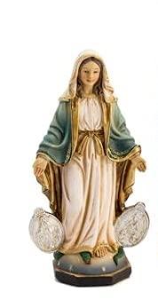 Virgen LA MILAGROSA con MEDALLAS (13_cm)