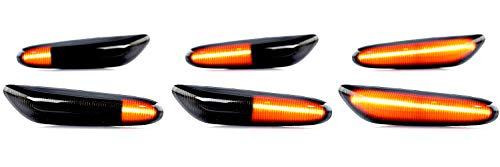 2 x LED Blinker Seitenblinker Blinkleuchte Dynamisch Laufblinker mit E-Prüfzeichen Black Vision V-170169LG