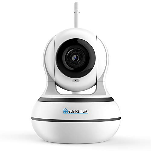 WiFi Camera eLinkSmart 1920x1080 Home Security PTZ IP Camera Card or Cloud Recording Night Vision 2-Way Audio Motion Detection, Support Alexa
