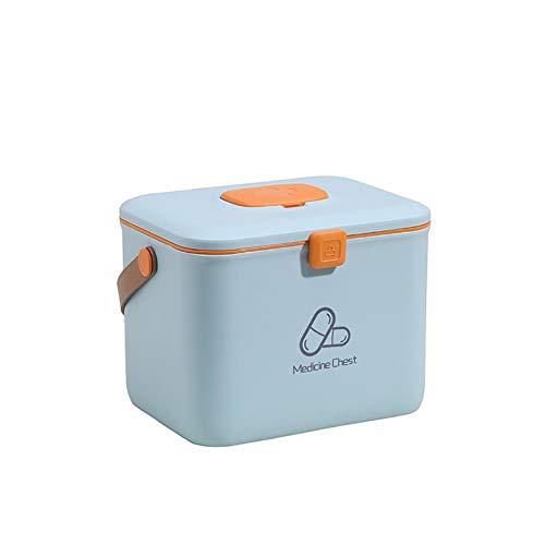 Phoeni Aufbewahrungsbox, Organizer, Haus-Medizinschrank, Medizin, hellblau, groß, 32 x 25 x 26 cm