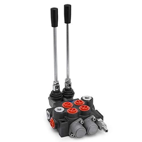 OldFe 2 SPOOL Hydraulikventil Handhebelventil 11 GPM directional control valve adjustable 6,3 kg Hydraulische Venti valve adjustable
