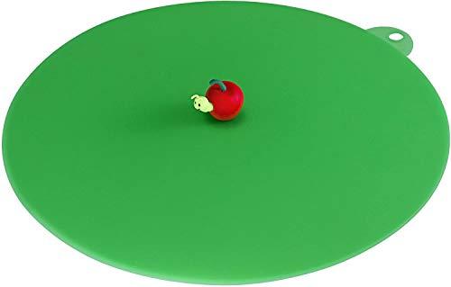 Lurch 210173 Couvercle de Tasse My lid-Pomme Ø275mm, Silicone, Vert, 27 cm