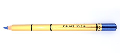 Brooklin - Lápiz de ojos Color Azul Electrico Nº318 duradero resistente al agua