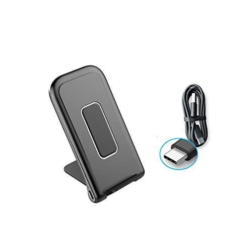 Buwei Cargador inalámbrico Qi Plegable 10W USB para iPhone XS MAX XR 8 Teléfono Celular Galaxy Note 8 9 S9 S8 Plus Estación de Carga rápida