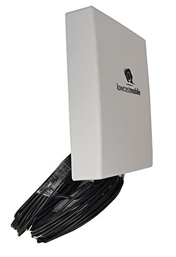 LowcostMobile PAN5G-MIMO-2021 4G 5G Antenne MIMO Multiband Outdoor 2x10m kabel ALSR200 SMA 7003800 Mhz passend zu router Huawei Vodafone Telekom Speedport Speedbox O2 FritzBox LTE TP Link Teltonika