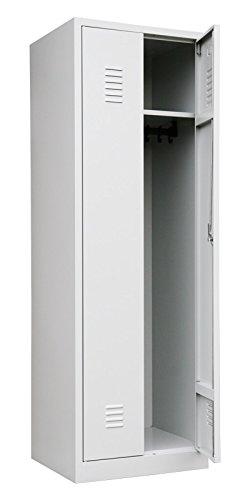 Lüllmann Spind Spint Stahl-Kleiderschränke Gaderobenschrank 2 türig mittig schließend 510400 kompl. montiert und verschweißt