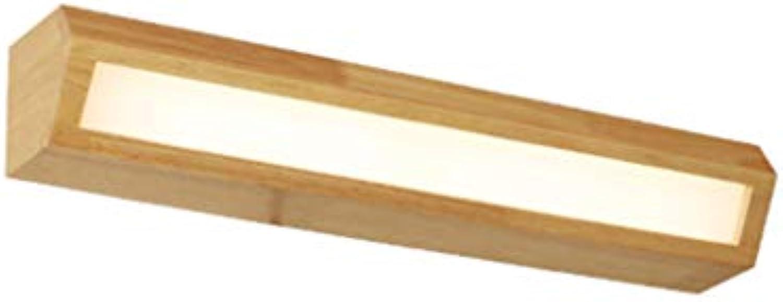 Energie sparen Spiegelfrontleuchten, Nordic LED Massivholz Wandleuchte Treppen Gang Badezimmer Spiegel vorne Licht Schlafzimmer Nachttischlampe Set das Regal Licht Dauerhaft (gre   Long 35cm)