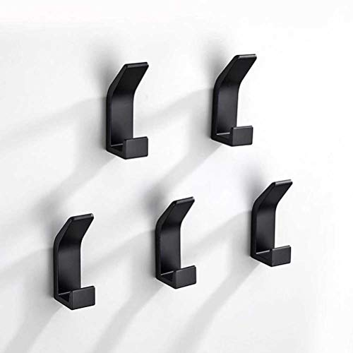 ZAIZAI 5 Pcs Towel Hooks Plastic Door Hangers Self Adhesive Wall Hangers Hat Racks Keys Hanger Hook Home Decoration Accessories