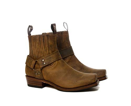 Sendra Boots - Stivaletto da bicicletta 8286 a punta quadrata marrone con imbracatura Marrone Size: 42 EU