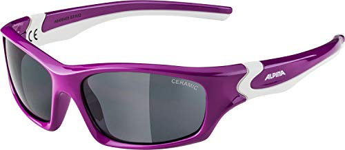 ALPINA Unisex - Kinder, FLEXXY TEEN Sonnenbrille, berry-white gloss, One size