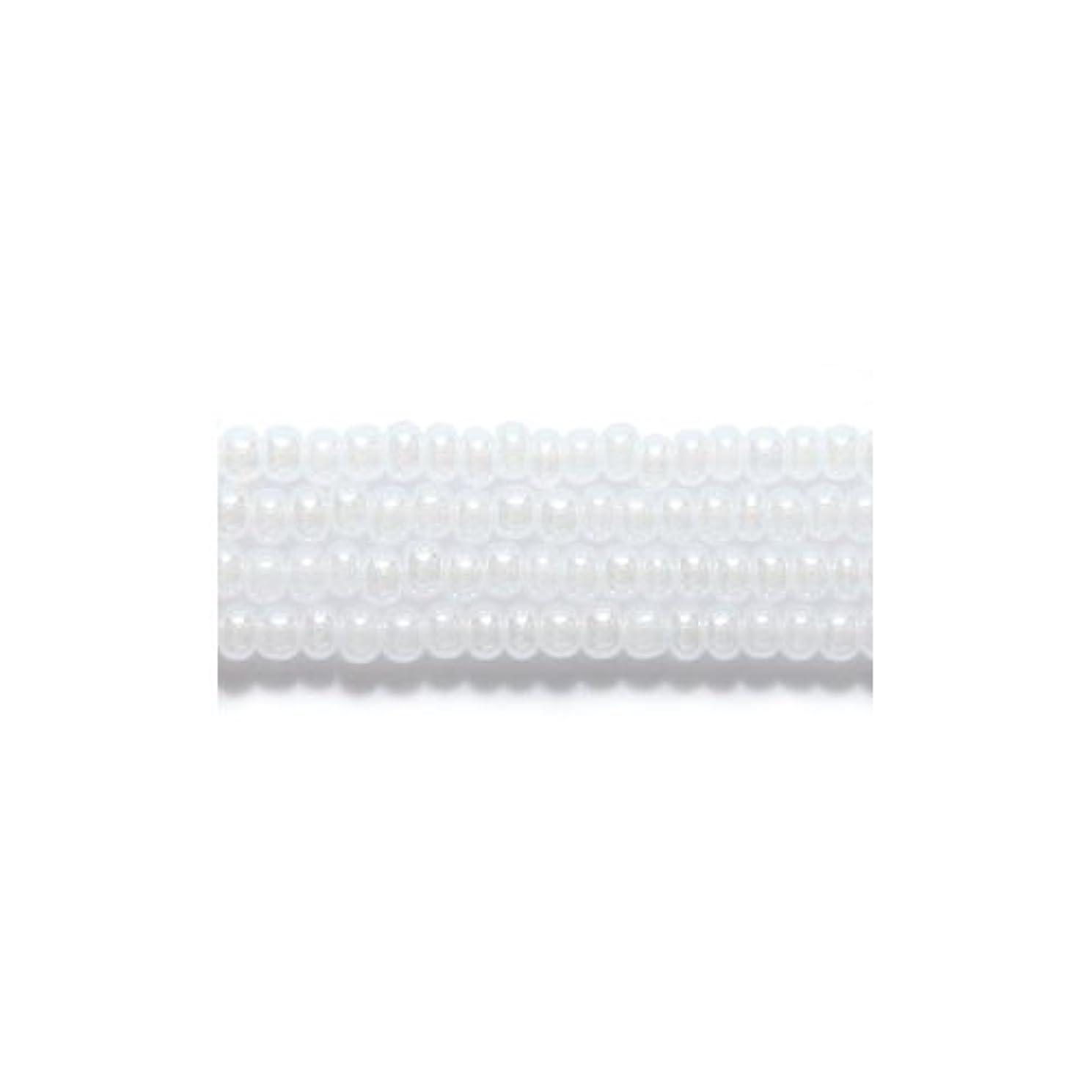 Preciosa Ornela Czech Seed Bead, Pearl White, Size 10/0