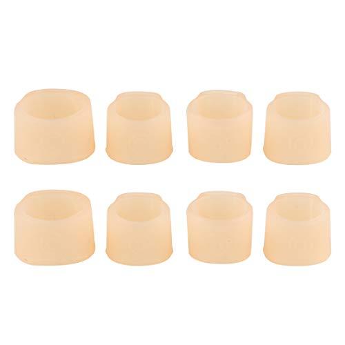 Andux 2 Gruppen von 8 Stück Silikon Guzheng Nail Protectors zum Spielen von Nail Covers für die Linke und Rechte Hand GZZJT-01 (Medium) MEHRWEG