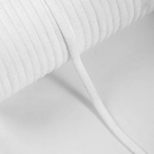 Elastic Band for and Sewing - 109 Yards - Flat Elastic Cord White - Width: 4mm