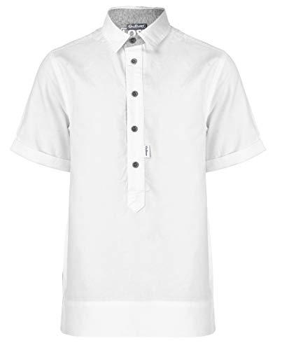 GULLIVER Wit Overhemd Korte Mouw voor Jongens en Kinderen Shirt met Tekst - 10 14 Jaar - 140 164 cm