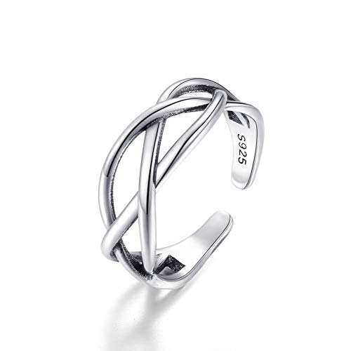 Adjustable Vintage S925 Sterling Silver Thumb Ring Celtic Knot Open Ring For Women Men Best BBF