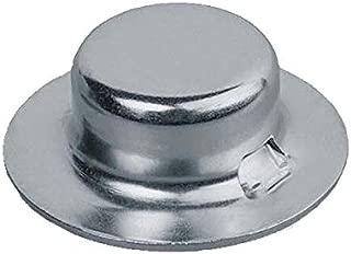 Push on Pushnut Cap Stud Size 5/8, Zinc Mech Finish, 2-Piece