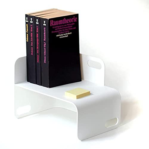 TEBTON® Made in Berlin | UNIUNIT (Weiß, XS) | Schreibtisch-Organizer Ablage aus Metall, auch geeignet als Valet Tablett Ablage A5 mit Griff, 22 x 16 x 16 cm (LxBxH)