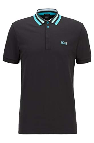 BOSS Herren Paddy 1 Polohemd, Black, XX-Large