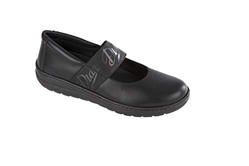 Dian SOFIA Zapato Femenino Tipo Salón con Elástico de Sujección, SRC+O2+FO, Negro, Talla 41