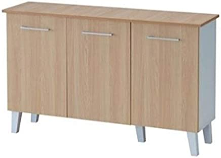 Maison Concept Pluto Cabinet, Beige and Grey - H 740 x W 330 x D 1184 mm