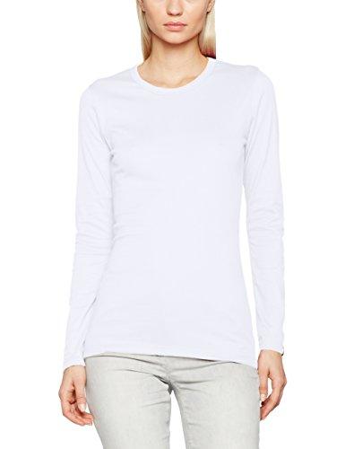 Trigema Damen Langarmshirt 502501_001, Gr. Medium, weiß