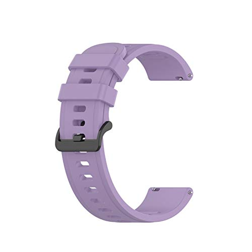 HGGFA Sport Silicone Band 20mm 22mm para Amazfit GTR 42mm 47mm GTS para Samsung Galaxy Watch Active2 S2 S3 para Huawei GT Wamkand Strap Correa (Band Color : Purple, Band Width : 22mm for GTR 47mm)