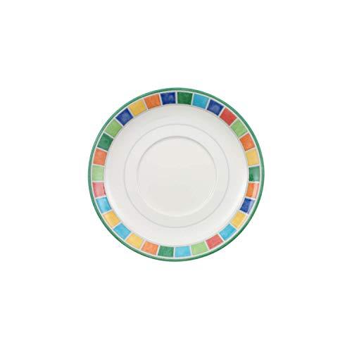 Villeroy und Boch Twist Alea Limone Untertasse, 14 cm, Premium Porzellan, Weiß/Gelb