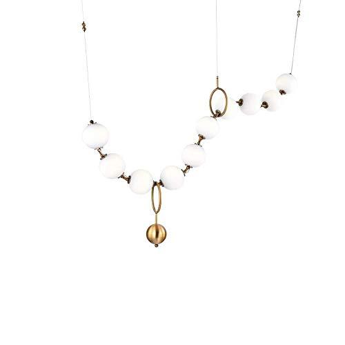 XHDMJ Moderne Glas Lampenschirm Licht Design Esszimmer Küchenarmaturen Halskette Stil Hängelampen