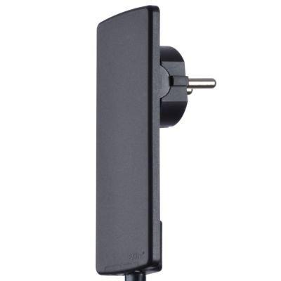 Evoline® Plug mit 3fach-Steckdose schwarz